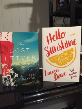 The Lost Letter by Jillian Cantor, Hello, Sunshine by Laura Dave